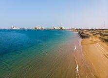 Νησί Marjan στο εμιράτο της εναέριας άποψης του Ras Al Khaimah στοκ εικόνες