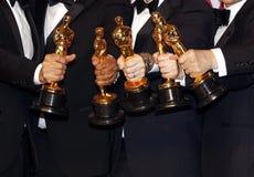 Νικητές αγαλμάτων του Oscar στοκ εικόνα