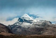 Νότια άποψη του ιερού υποστηρίγματος Kailash σε Tarboche 15.000 πόδια 4.600 μέτρα στοκ φωτογραφίες