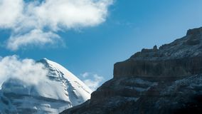 Νότια άποψη του ιερού υποστηρίγματος Kailash σε Tarboche 15.000 πόδια 4.600 μέτρα στοκ φωτογραφία