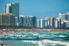 Νότια παραλία στο Μαϊάμι Μπιτς, Φλώριδα, Ηνωμένες Πολιτείες στοκ εικόνες