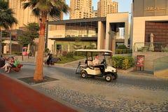 Ντουμπάι, Ε.Α.Ε. - 8 Μαΐου 2018: Περίπατος μαρινών του Ντουμπάι στο ηλιοβασίλεμα Άποψη ουρανοξυστών μαρινών του Ντουμπάι, Ντουμπά στοκ εικόνα