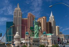 Ξενοδοχείο Νέα Υόρκη Νέα Υόρκη στο Las Vegas Strip στοκ εικόνα