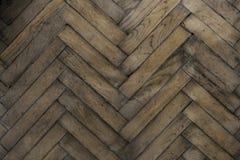 Ξύλινο παλαιό ψαροκόκκαλο πατωμάτων στοκ φωτογραφία