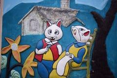 Οικογένεια ενός ζεύγους ποντικιών στοκ εικόνα με δικαίωμα ελεύθερης χρήσης
