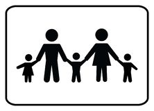 Οικογενειακό εικονίδιο-διάνυσμα διανυσματική απεικόνιση
