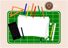 Οι βασικές τεχνικές σχεδίων είναι μια σκιαγράφηση ελεύθερη απεικόνιση αποθεμάτων