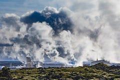Οι γεωθερμικές εγκαταστάσεις παραγωγής ενέργειας Svartsengi Ισλανδία ΕΙΝΑΙ ΕΕ στοκ εικόνες με δικαίωμα ελεύθερης χρήσης