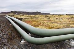 Οι γεωθερμικοί σωλήνες Ισλανδία ενεργειακής βιομηχανίας ΕΙΝΑΙ Ευρώπη στοκ εικόνα
