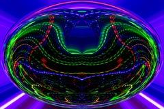 Οι γραμμές χρώματος και οι καμπύλες δημιουργούν τη φανταστική εικόνα elipse στοκ εικόνες με δικαίωμα ελεύθερης χρήσης
