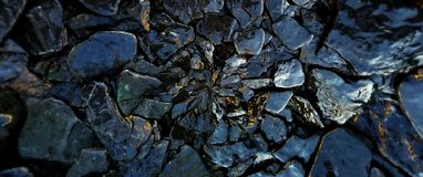 Οι υγροί βράχοι και το υπόβαθρο σχεδίων σύστασης πετρών στοκ εικόνες