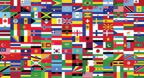 Οι παγκόσμιες χώρες σημαιοστολίζουν το σχέδιο συλλογής από την απεικόνιση διανυσματική απεικόνιση