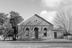Ολλανδική ανασχηματισμένη αίθουσα εκκλησιών σε Sutherland μονοχρωματικός στοκ φωτογραφία με δικαίωμα ελεύθερης χρήσης