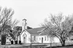 Ολλανδική ανασχηματισμένη εκκλησία μητέρων σε Theunissen μονοχρωματικός στοκ εικόνες