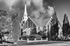 Ολλανδική ανασχηματισμένη εκκλησία σε Sutherland στο βόρειο ακρωτήριο μονοχρωματικός στοκ φωτογραφία με δικαίωμα ελεύθερης χρήσης