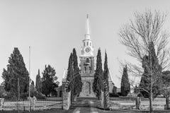 Ολλανδική ανασχηματισμένη εκκλησία σε Sutherland στο βόρειο ακρωτήριο μονοχρωματικός στοκ φωτογραφία