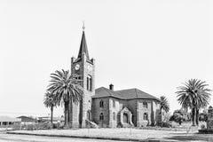 Ολλανδική ανασχηματισμένη εκκλησία σε Vredefort μονοχρωματικός στοκ εικόνα