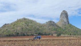 Οδήγηση γεωργικών τρακτέρ στον τομέα απόθεμα βίντεο