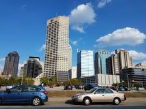 Οδήγηση μέσω της στο κέντρο της πόλης Ινδιανάπολης στοκ εικόνες με δικαίωμα ελεύθερης χρήσης