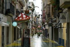 Οδός του βροχερού μανιταριού στην Αλικάντε στοκ εικόνες με δικαίωμα ελεύθερης χρήσης