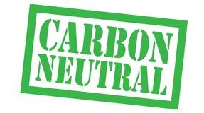 Ουδέτερο γραμματόσημο άνθρακα στο λευκό ελεύθερη απεικόνιση δικαιώματος