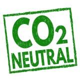 Ουδέτερο σημάδι ή γραμματόσημο του CO2 απεικόνιση αποθεμάτων