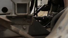 Ο άξονας Drive αυτοκινήτων απόθεμα βίντεο