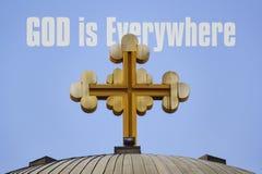 Ο Θεός είναι παντού στοκ φωτογραφία