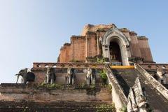 Ο ναός Wat Chedi Luang σε Chang Mai Ταϊλάνδη στοκ φωτογραφία