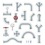 Ο χάλυβας διοχετεύει με σωλήνες το βιομηχανικό σύνολο, διαφορετικοί τύποι υδραυλικών ελεύθερη απεικόνιση δικαιώματος