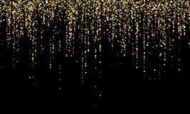 Ο χρυσός συνόρων γιρλαντών ακτινοβολεί διανυσματική απεικόνιση υποβάθρου στοκ φωτογραφία