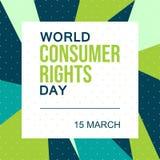Ο παγκόσμιος καταναλωτής διορθώνει την ημέρα 15 Μαρτίου - διάνυσμα απεικόνιση αποθεμάτων
