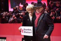 Ο Dieter Kosslick, Monika Gruetters φθάνει για την τελετή κλεισίματος στοκ εικόνα