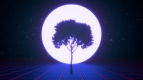 Δέντρο στο εικονικό διάστημα φιλμ μικρού μήκους