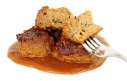 Δέσμες και ζωμός χοιρινού κρέατος στοκ εικόνα