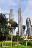δίδυμο πύργων petronas στοκ φωτογραφία με δικαίωμα ελεύθερης χρήσης
