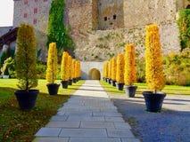 Δενδρώδης είσοδος στο φρούριο του Πάσσαου στοκ φωτογραφία