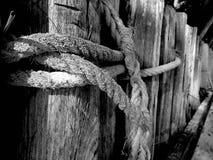 Δεσμός κόμβων σχοινιών στον πάγκο στοκ φωτογραφία με δικαίωμα ελεύθερης χρήσης