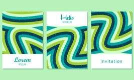 Δημιουργικές κάρτες με το αφηρημένο υπόβαθρο - διάνυσμα απεικόνιση αποθεμάτων