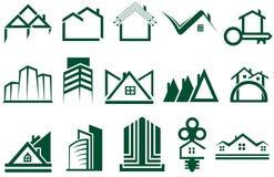 Δημιουργική συλλογή λογότυπων σπιτιών διανυσματική απεικόνιση