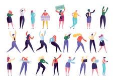 Δημιουργικός χαρακτήρας ανθρώπων επιχειρησιακής αντιπροσωπείας - σύνολο διανυσματική απεικόνιση