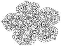 Διακοσμητική διανυσματική γεωμετρική τέχνη mandala ελεύθερη απεικόνιση δικαιώματος