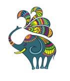 Διακοσμητική χαριτωμένη διανυσματική απεικόνιση ελεφάντων ελεύθερη απεικόνιση δικαιώματος
