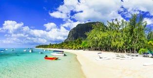 Διακοπές tropicla πολυτέλειας - LE Morne, καλύτερες παραλίες του νησιού του Μαυρίκιου στοκ φωτογραφίες