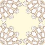Διακόσμηση mandala πλαισίων πολύτιμων λίθων βανίλιας στοκ εικόνα με δικαίωμα ελεύθερης χρήσης