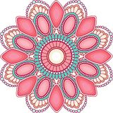 Διακόσμηση mandala πολύτιμων λίθων για το σχέδιο Ιστού στοκ εικόνες