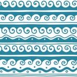 Διανυσματικά ελληνικά διακοσμητικά στοιχεία κυμάτων και μαιάνδρου καθορισμένα στοκ εικόνες