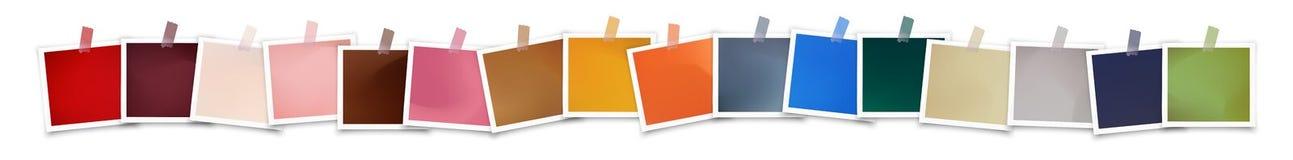 Διανυσματικά πλαίσια φωτογραφιών με την καθιερώνουσα τη μόδα παλέτα χρώματος διανυσματική απεικόνιση