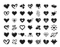 Διανυσματική έννοια απεικόνισης 42 απλά συνόλου καρδιών τρισδιάστατο λευκό αντικειμένου ανασκόπησης απομονωμένο εικονίδιο απεικόνιση αποθεμάτων