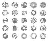 Διανυσματική έννοια απεικόνισης του λογότυπου κύκλων Ο Μαύρος στην άσπρη ανασκόπηση ελεύθερη απεικόνιση δικαιώματος